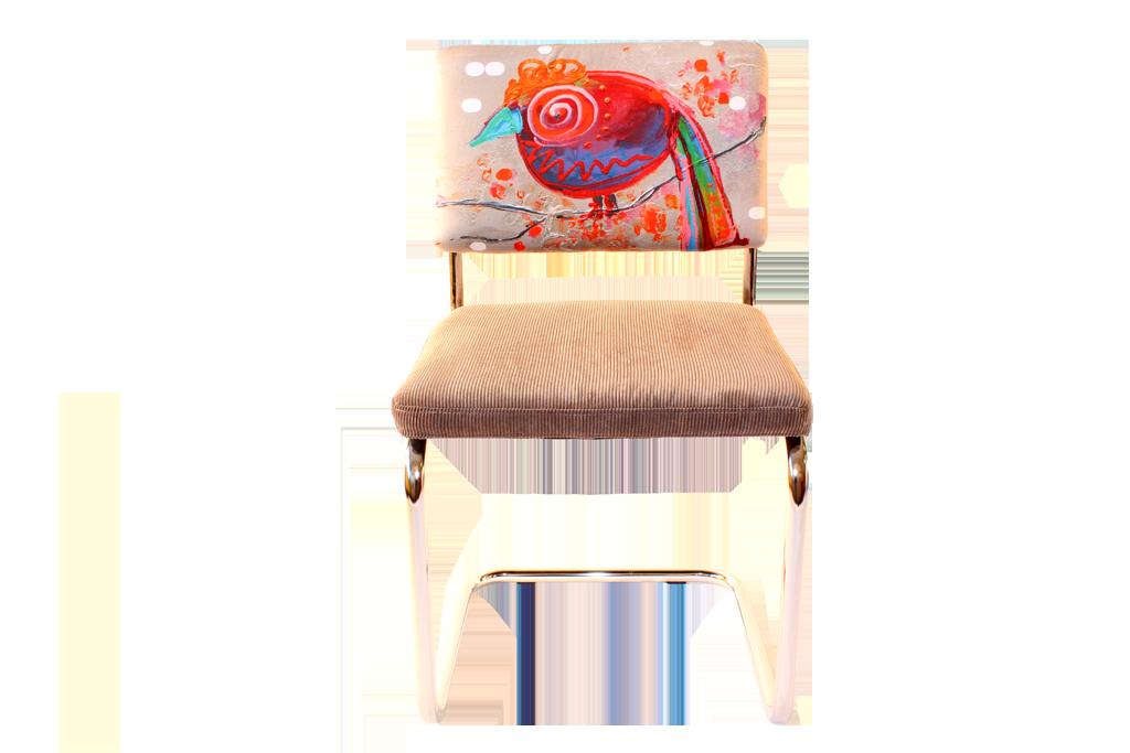 stoel vogel 2 kunst op stoelen neplenbroek